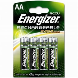 4x AA Energizer Rechargeable 2450mAh