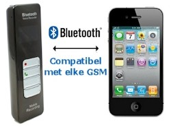 Bluetooth Enregistreur GSM