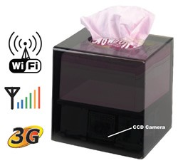 Boîte à mouchoirs caméra IP